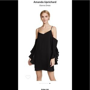 **NWT Amanda Uprichard cold-shoulder dress sz M